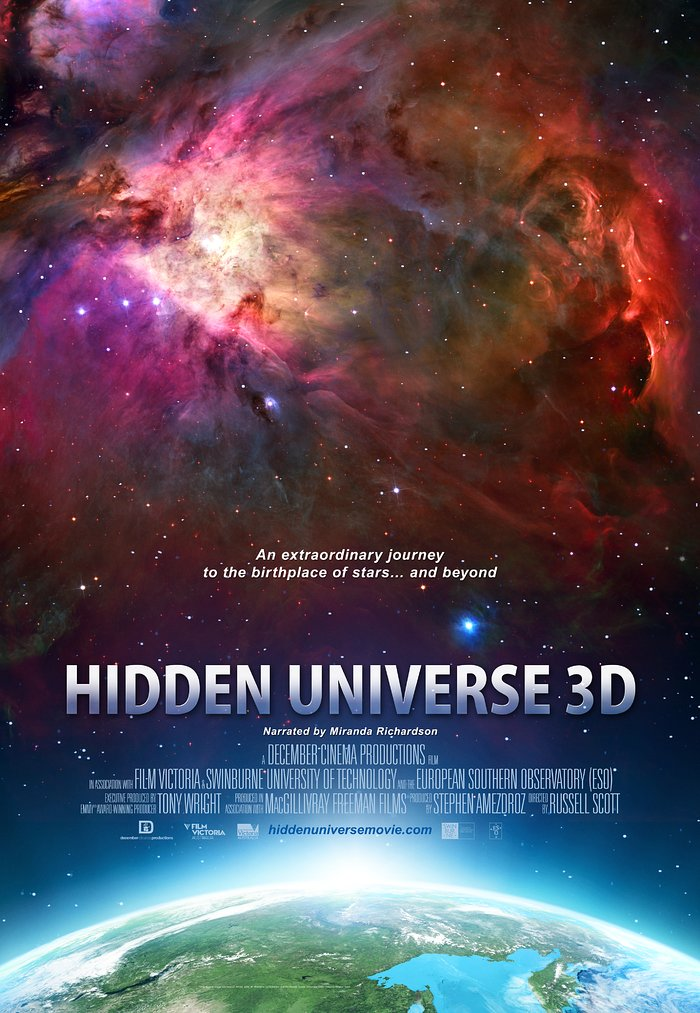 Poster for the IMAX® 3D movie Hidden Universe