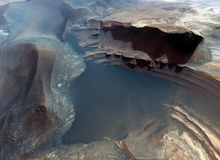 Beeld van het Marsoppervlak, uit de IMAX®-3D-film Hidden Universe