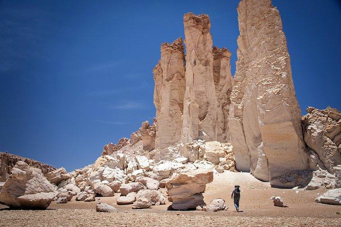 Kalliomuodostelma Atacaman autiomaassa