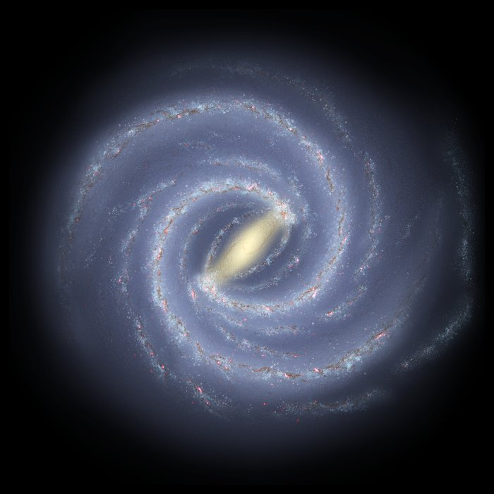 Artist's impression of the Milky Way