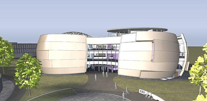 Det nye planetarium og udstillingscenter ved ESOs hovedkontor