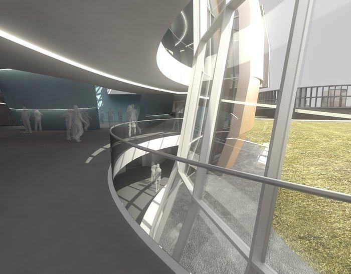 Het nieuwe planetarium en tentoonstellingscentrum van het ESO-hoofdkwartier