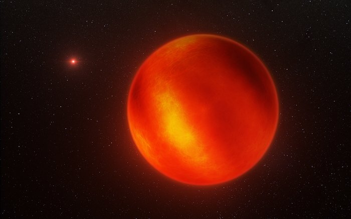 Artist's impression of Luhman 16B recreated from VLT observations