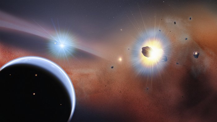 Artist's impression of Beta Pictoris