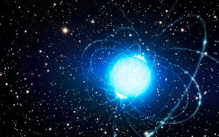 Taiteilijan näkemys magnetarista tähtijoukossa Westerlund 1