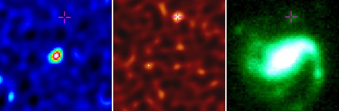 Lampi di luce gamma sepolti nella polvere