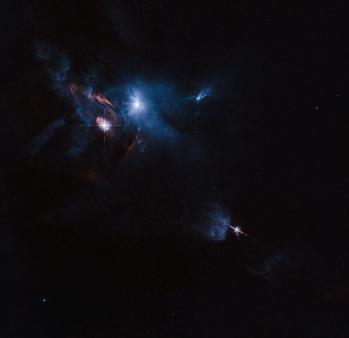 Hubble image of the surroundings of the young star HL Tauri