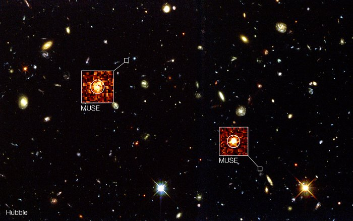 MUSE overgår Hubbles observasjoner av Hubble Deep Field South