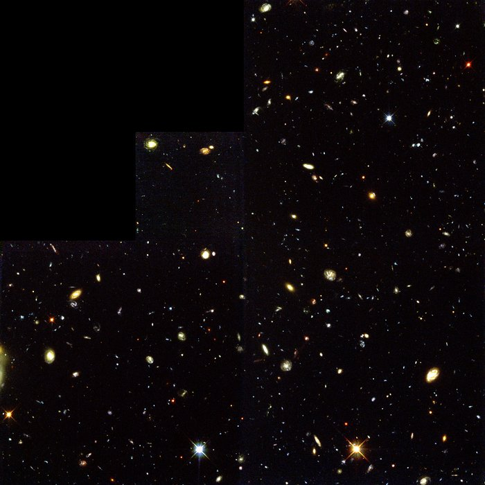 Hubble Deep Field South — Mehrere Fenster ins Universum