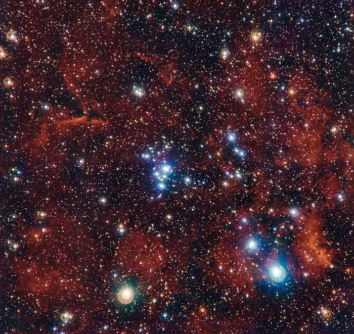 Der farbenprächtige Sternhaufen NGC 2367