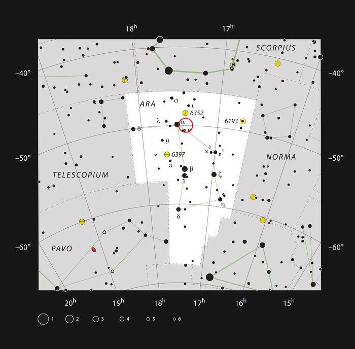 L'amas d'étoiles IC 4651 dans la constellation de l'Autel