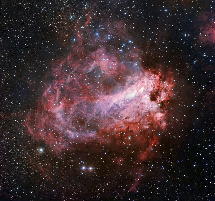 A região de formação estelar Messier 17