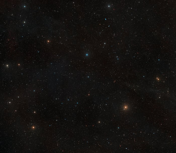 Wide-field view of the sky around the nearby star AU Microscopii