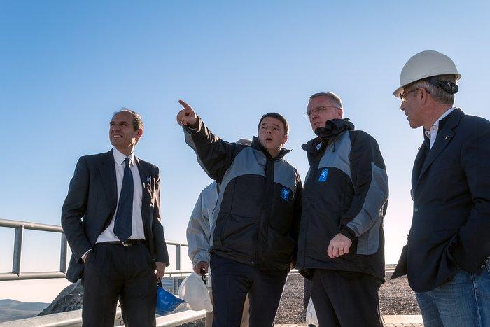 Le Premier Ministre italien visite l'Observatoire de Paranal de l'ESO