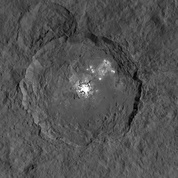 The bright spots on Ceres imaged by the dawn spacecraft