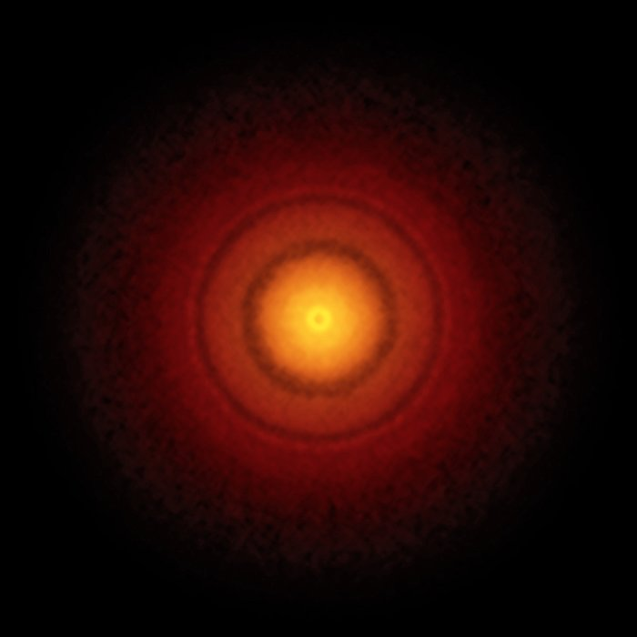 ALMA image of the disc around the young star TW Hydrae