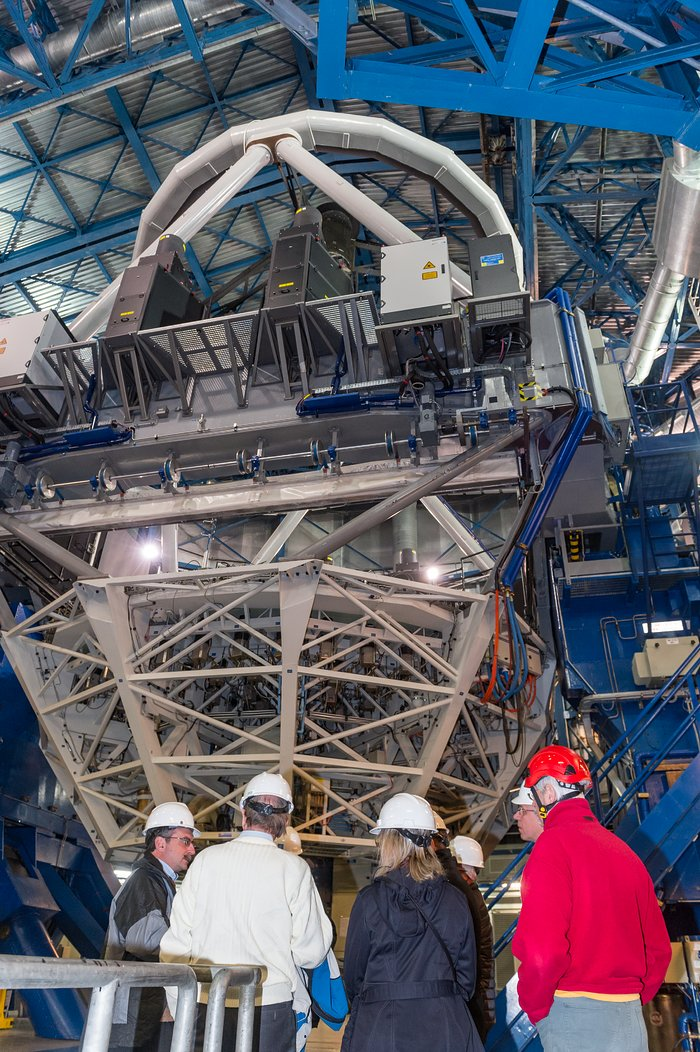 First light for Four Laser Guide Star Facility bliver fejret på ESOs VLT