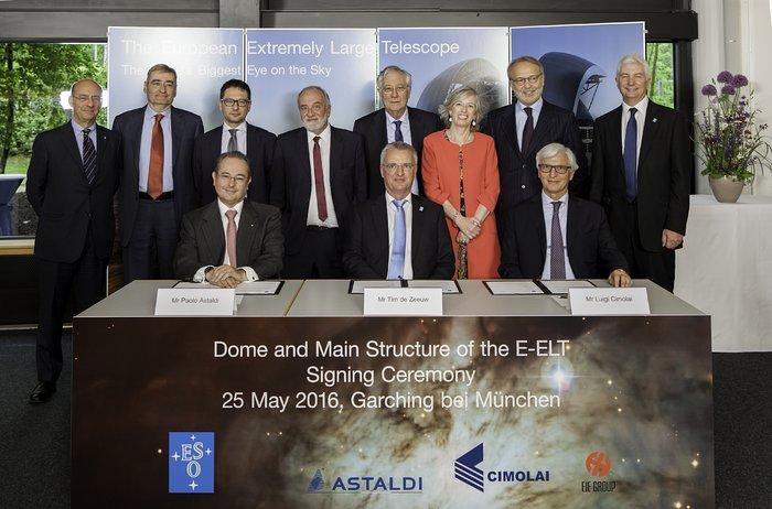 ESO tecknar kontrakt för E-ELT:s kupol och teleskopstruktur – störst hittills inom den markbaserade astronomin