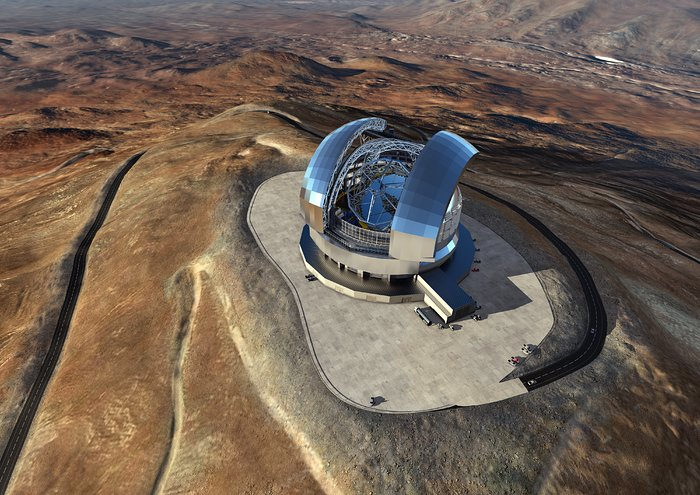 Artist's rendering of the Extremely Large Telescope