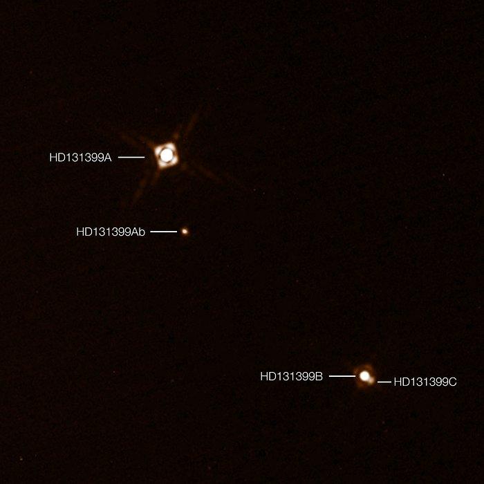 Observações SPHERE do planeta HD 131399Ab