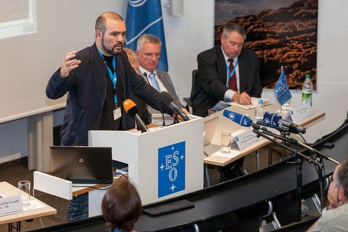 Konferencja prasowa w siedzibie ESO