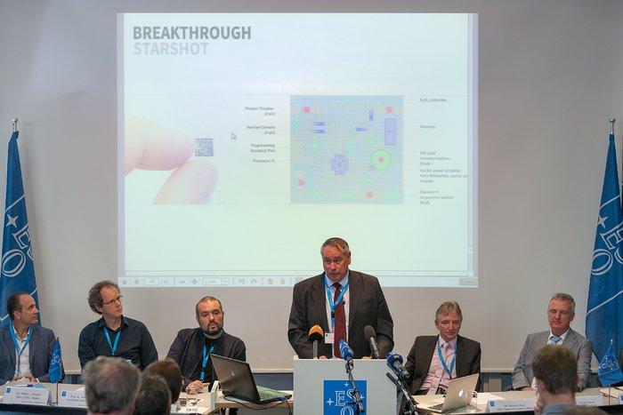 Presskonferens vid ESO:s huvudkontor