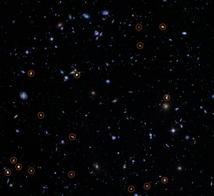 ALMA investiga o Hubble Ultra Deep Field