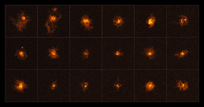 Bright halos around distant quasars