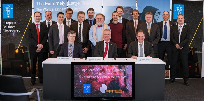 Contract ceremony for the ELT's M1 edge sensors
