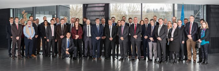Participants in the ELT contract signature ceremony at ESO Headquarters