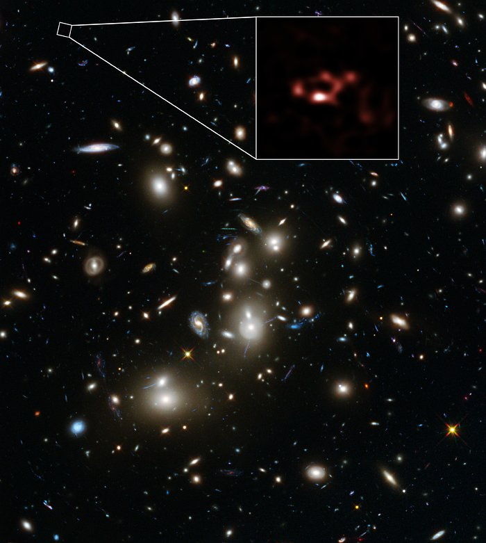 ALMA and Hubble Space Telescope views of the distant dusty galaxy A2744_YD4