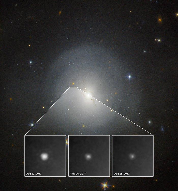 O Hubble observa a primeira quilonova