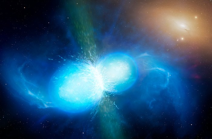 Artist's impression of merging neutron stars