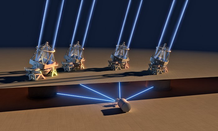 ESPRESSO instrument achieves first light with all four Unit Telescopes