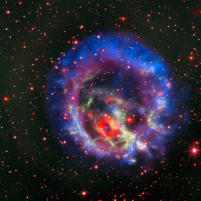 Een solitaire neutronenster in de Kleine Magelhaense Wolk