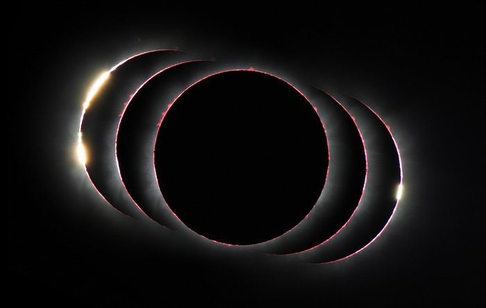 Compound view of the hybid solar eclipse of 3 November 2013