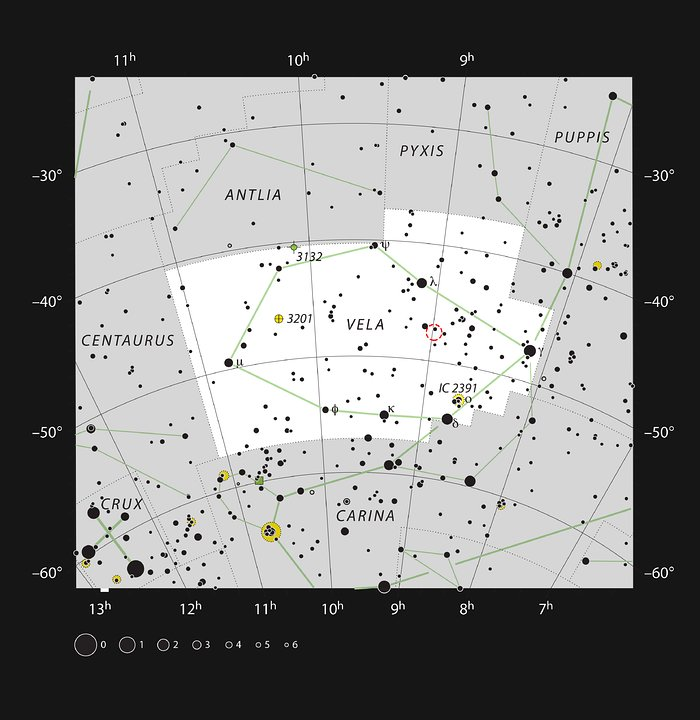 RCW 38 in the Constellation of Vela