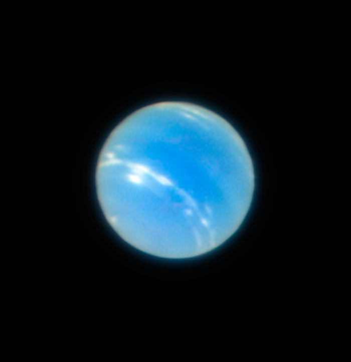 Neptune from the VLT with MUSE/GALACSI Narrow Field Mode adaptive optics