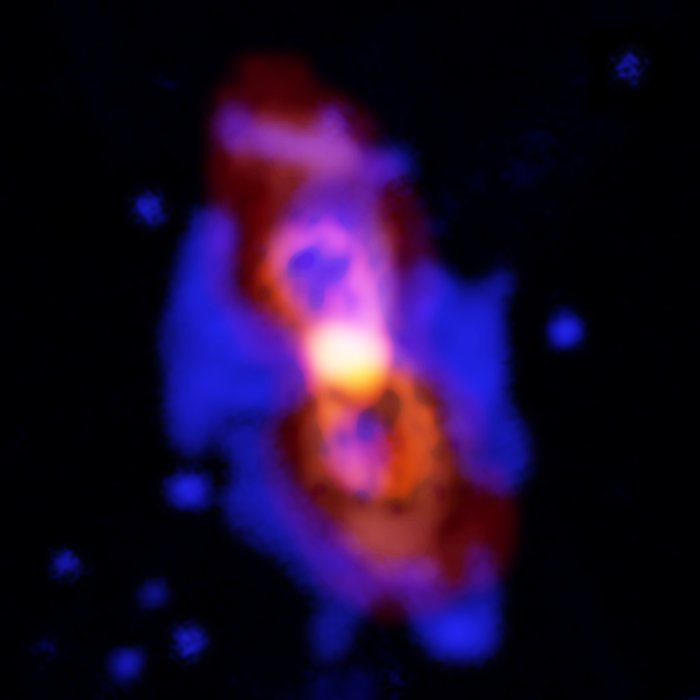 Radioactive molecules in the remains of a stellar collision