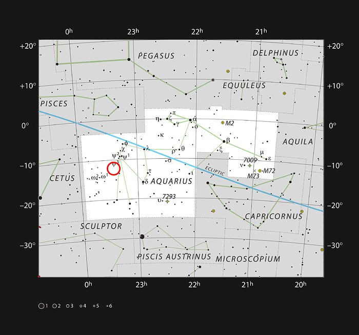 Abell 2597 in the Constellation of Aquarius