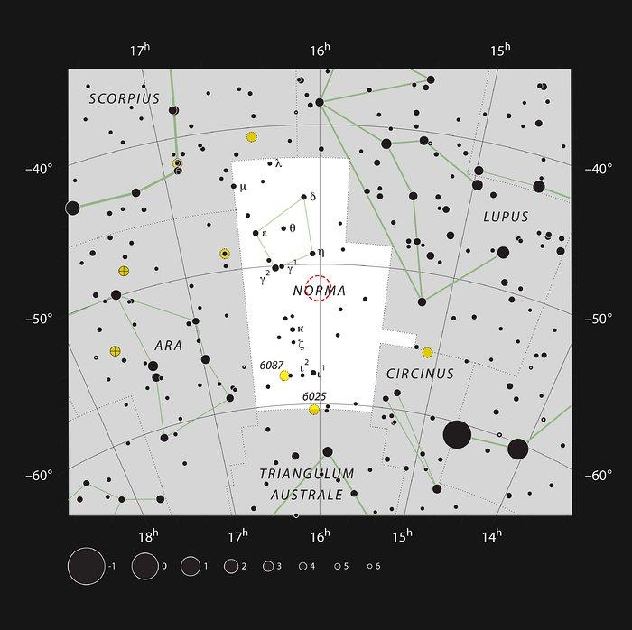 Apep dans la constellation de La Règle