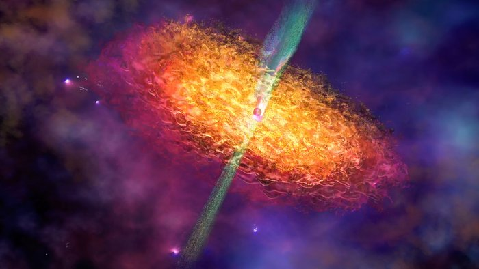 Artist's Impression of a Black Hole Environment