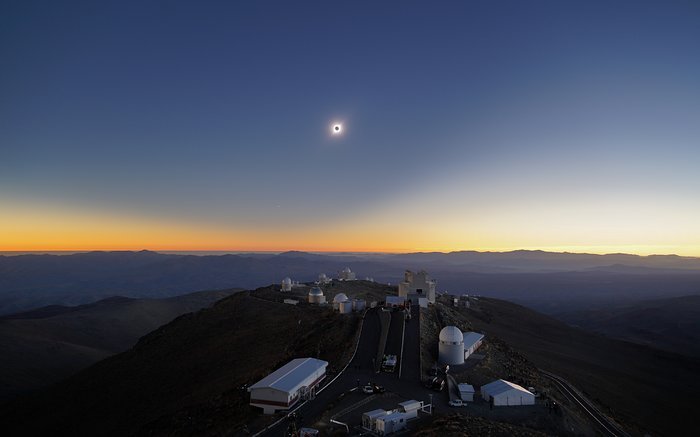 Eclipse total do Sol, Observatório de La Silla, 2019