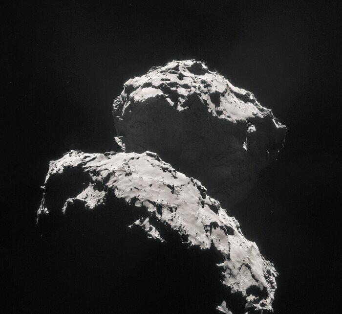 Rosetta view of comet 67P/Churyumov–Gerasimenko