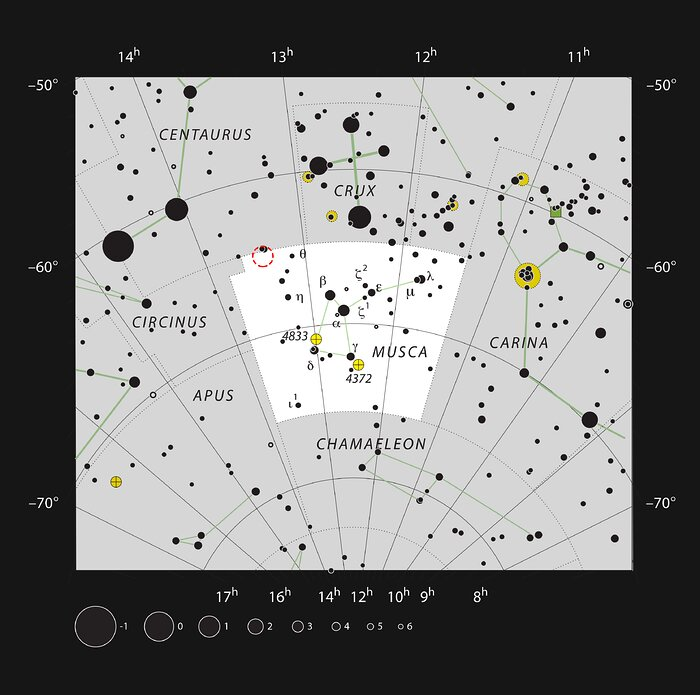 Location of TYC 8998-760-1 in the constellation of Musca