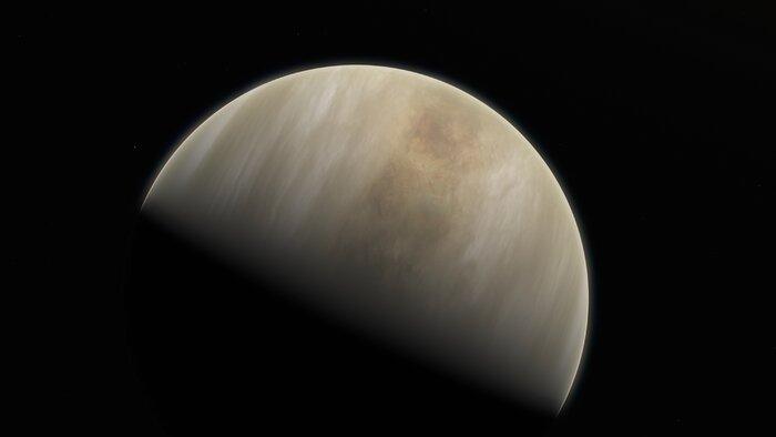 Impression d'artiste de la planète Vénus