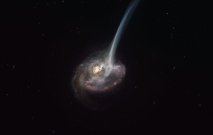Illustration af galaksen ID2299