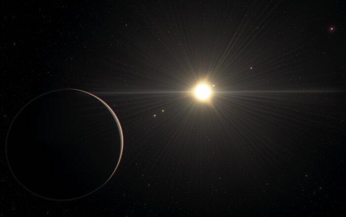 Illustration af exoplanetsystemet TOI-178