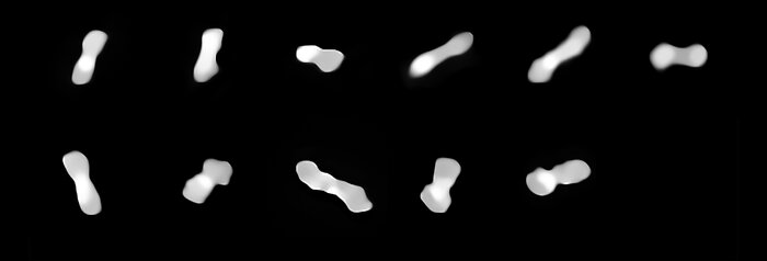 Asteroid Kleopatra from different angles