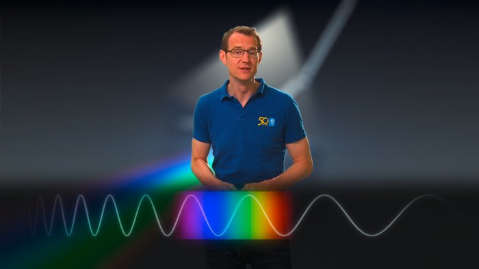Dr J talking about the visible light spectrum